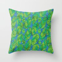 Tropic orchid Throw Pillow