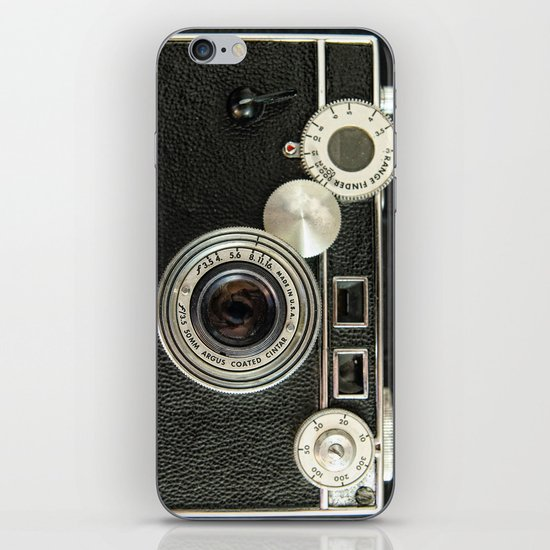 Vintage Range finder camera. iPhone & iPod Skin
