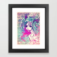 CrackHatsune Framed Art Print