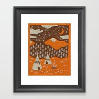 Orange mountain county Framed Art Print
