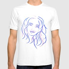 Blue Portrait Mens Fitted Tee White SMALL