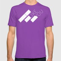 I Like You Graphik: Whit… Mens Fitted Tee Ultraviolet SMALL