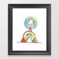 Future Boy Framed Art Print