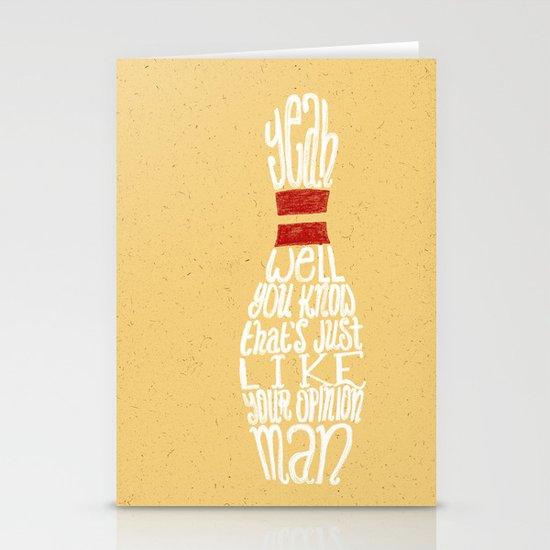 The Big Lebowski Stationery Card