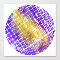 Purple And Gold Squared Canvas Print