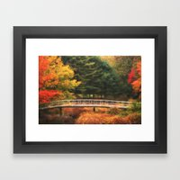 Bridge to Autumn Framed Art Print