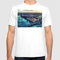 London watercolor Mens Fitted Tee White SMALL
