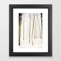 Snowy Trail Framed Art Print