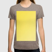 Beautiful buttercup yellow gradient Womens Fitted Tee Tri-Coffee SMALL