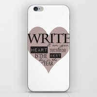 Write It On Your Heart Design iPhone & iPod Skin