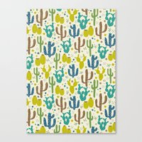Prickly Cactus (Greens) Canvas Print