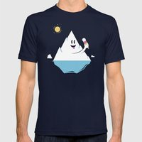 Refreshing Mens Fitted Tee Navy SMALL