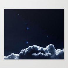 Constellations Cancer -Dark blue clouds Canvas Print