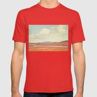 Summer Landscape Mens Fitted Tee Red SMALL