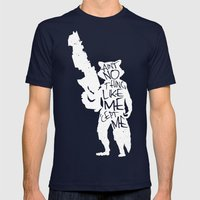 What's a Raccoon? Mens Fitted Tee Navy SMALL