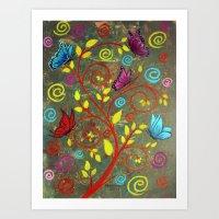 Butterflies-5 Art Print