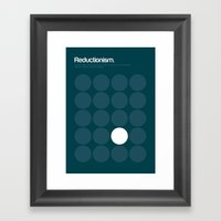 Reductionism Framed Art Print