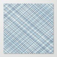 Weave 45 Blues Canvas Print