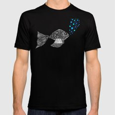 Blowing Bubbles SMALL Mens Fitted Tee Black