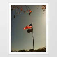Freedom Flag Art Print