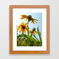 Summer Yellow Framed Art Print