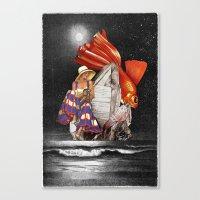 Midnight Fishing Canvas Print