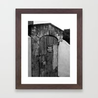 Private Property Framed Art Print