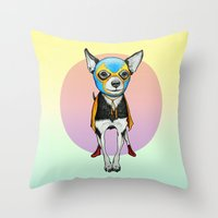 Chihuahua - Luchador  Throw Pillow