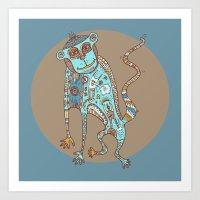 Blue Monkey Art Print