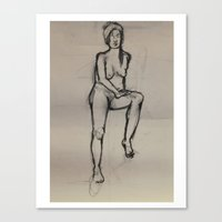 Girl, In Peace Canvas Print