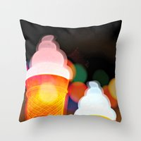 All the pretty lights - V Throw Pillow