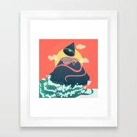 Snake On Crystal Mountain Framed Art Print
