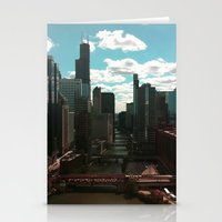 Chicago River View Stationery Cards