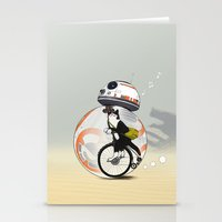 CAT INSIDE DROID Stationery Cards