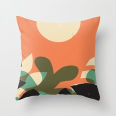Jungle Sun #2 Throw Pillow