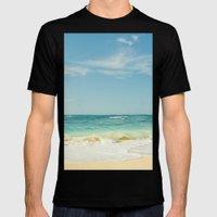 Beach Love Maui Style Hawaii Mens Fitted Tee Black SMALL