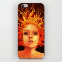 Flame Princess iPhone & iPod Skin