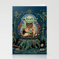 Stationery Cards featuring Yodhisattva by Sumrow