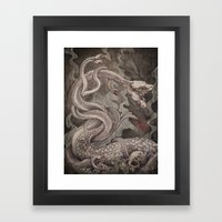 The Lernaean Hydra Art P… Framed Art Print