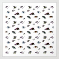 Dozens of Eyes Art Print