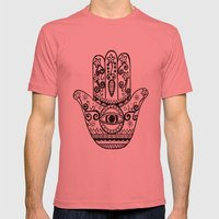 Hamsa Hand Mens Fitted Tee Pomegranate SMALL