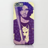 quote iPhone & iPod Cases featuring GAME OF THRONES 80/90s ERA CHARACTERS - Jon Snow by Mike Wrobel