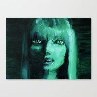 THE GREEN QUICK PORTRAIT Canvas Print