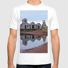 Reflections of the Past SMALL Mens Fitted Tee White