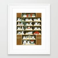 China cabinet Framed Art Print