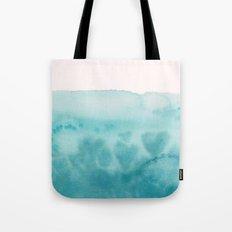 Waves of Love Aqua Tote Bag