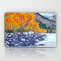 Along the lake.. Laptop & iPad Skin