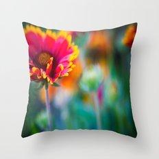 Blanket Flower Throw Pillow