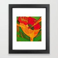 Tropical Farm Woman Framed Art Print