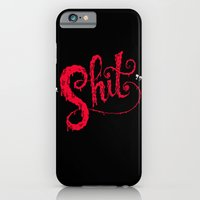 iPhone & iPod Case featuring Shit by Chris Piascik